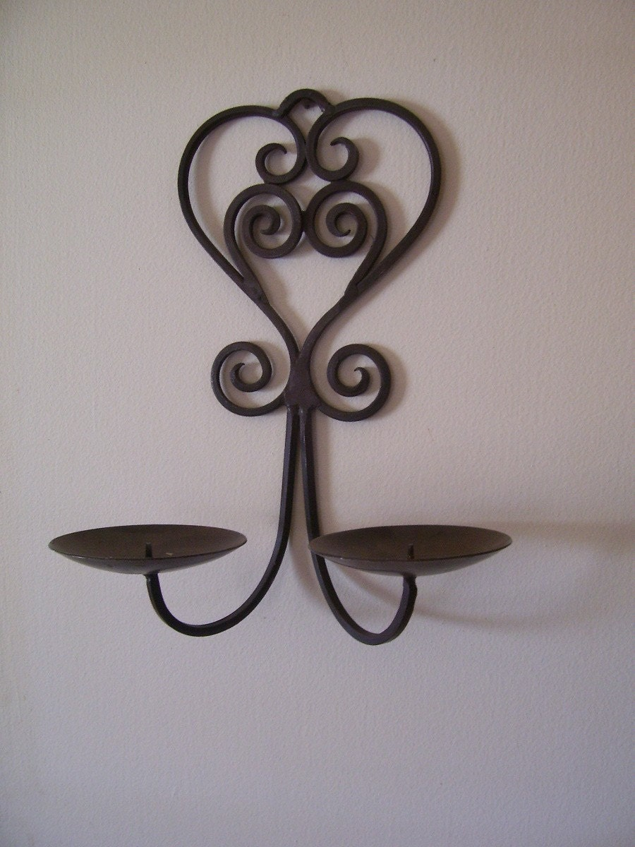 Sale Vintage Wrought Iron Ornate Heart by Thecountrylampshop