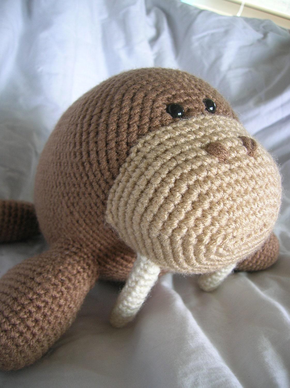 Amigurumi Walrus : Wilbur the Walrus Amigurumi Crochet PATTERN ONLY by ...