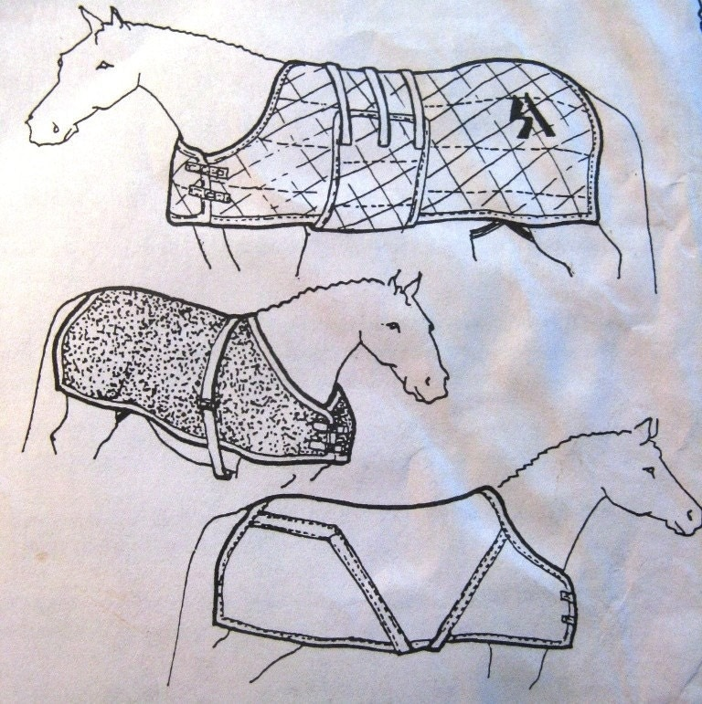 Horse embroidery pattern « origami