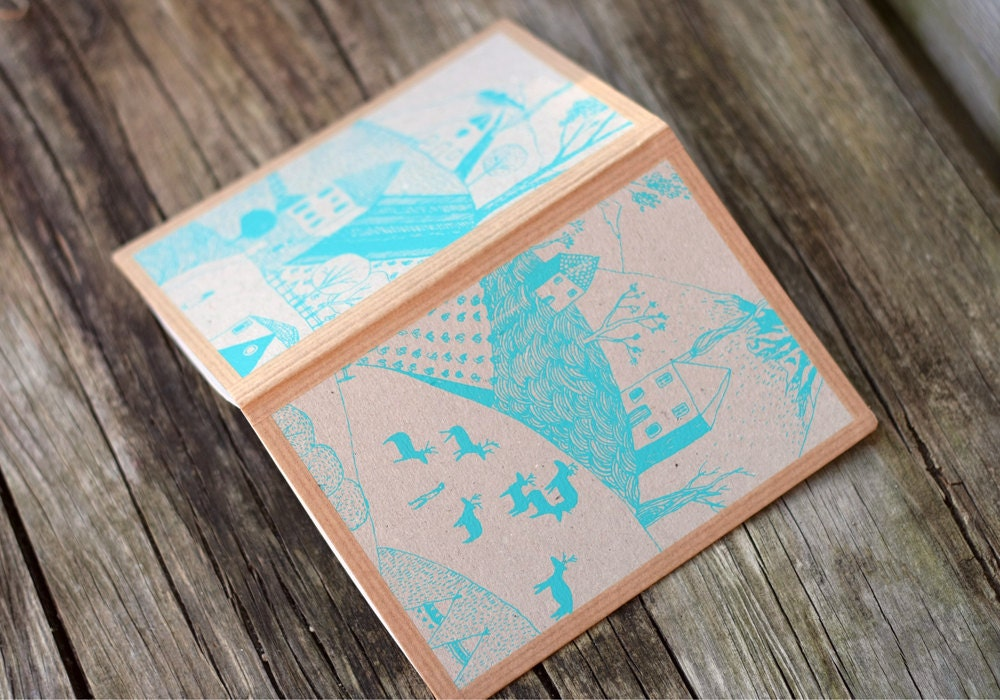 handmade screen printed notebook - LeChosesImprimees