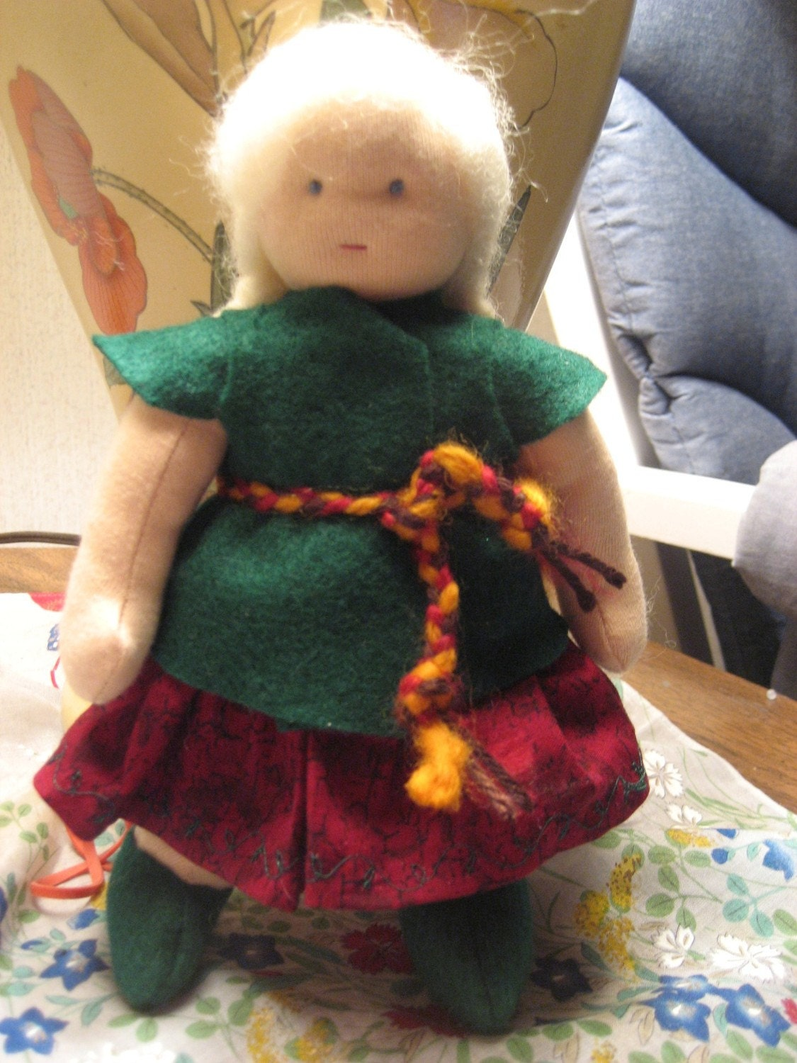Cloth Doll made in the Waldorf Style
