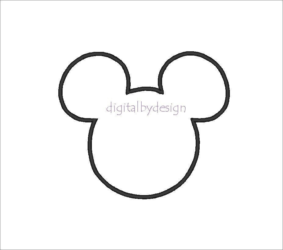 Mickey mouse head silhouette for Mickey mouse head shape template