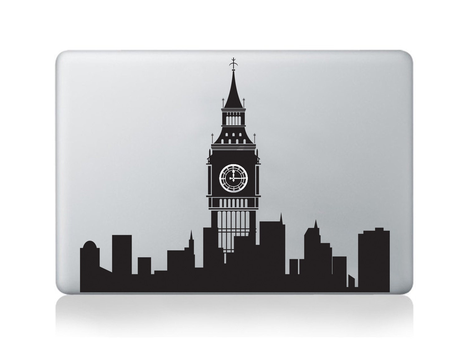 Macbook decal pro air London Skyline vinyl sticker light apple decal mural transfer graphic laptop notebook skin Asus HP Toshiba Dell decal