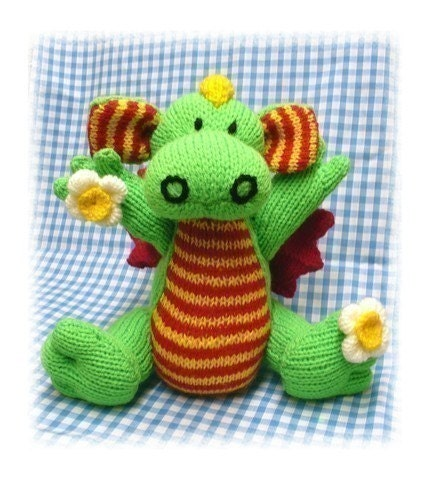 DAISY the BABY DRAGON pdf email KNITTING pattern by by ...