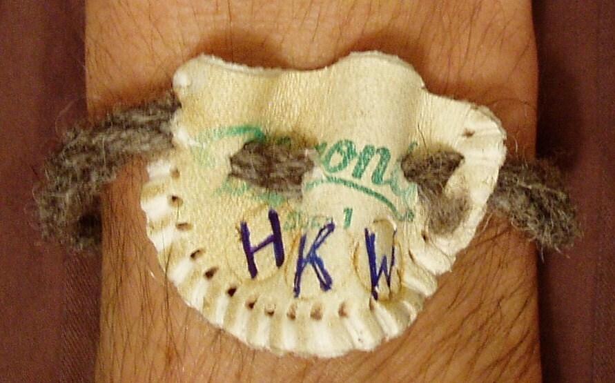 Hippie Bracelet Game Used Baseball - Hong Kong Willie