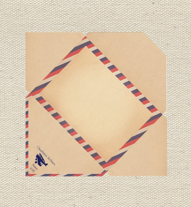 Items similar to Vintage Airmail Envelope DIY Printable on Etsy