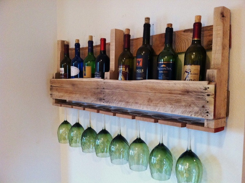 Wine Rack, Reclaimed Rustic Wood, Handmade, Primitive, Light Wood Design Was 69.00 NOW 59.00 - GreatLakesReclaimed