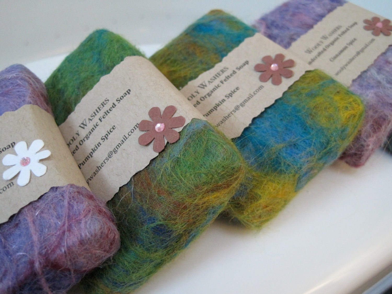 2 Pack Your Choice - Hand felted hand crafted soaps