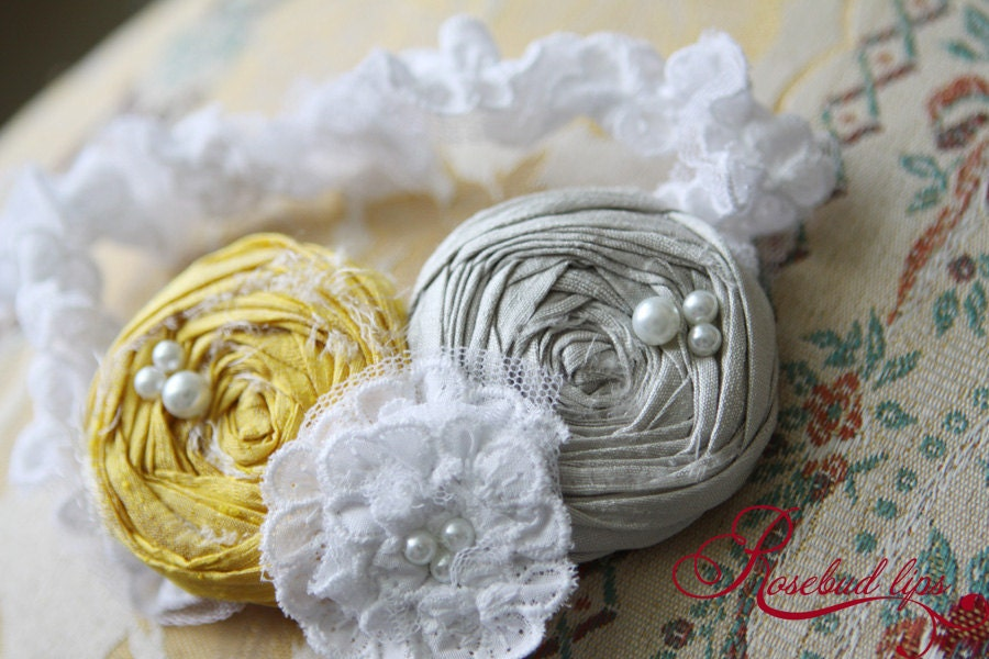Sunshine Sass Garter (silver and yellow)- Perfect gift for bride-to-be