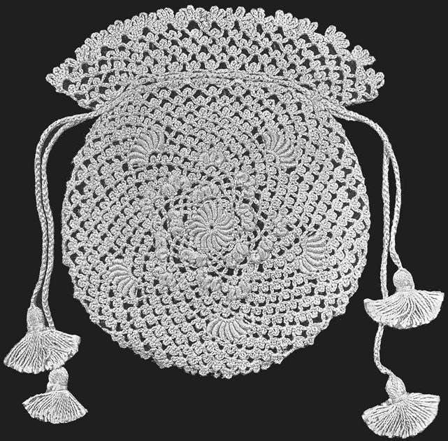Free Irish Crochet Bag Pattern : 1913 Bridal Bag in Irish Crochet Lace Vintage Crochet by ...
