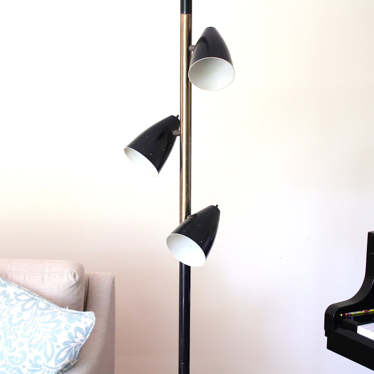 Mid Century Modern Tension Pole Lamp by theNelleHouse on Etsy