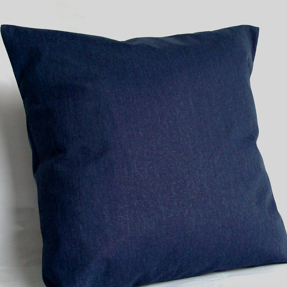 Solid Navy Blue Throw Pillows