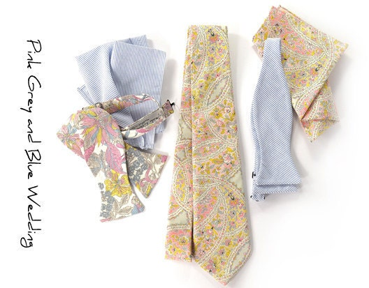 Wedding Ties Pink Grey and Blue Customize Your Sartorial Wedding