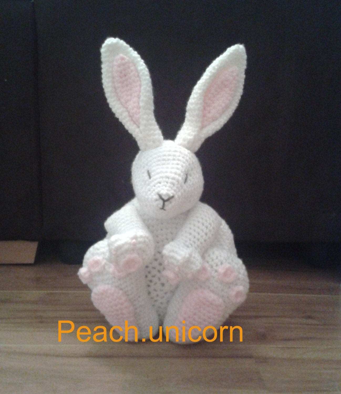 Amigurumi Rabbit For Beginners : Bunny Rabbit Crochet PATTERN Pillow Cushion by ...