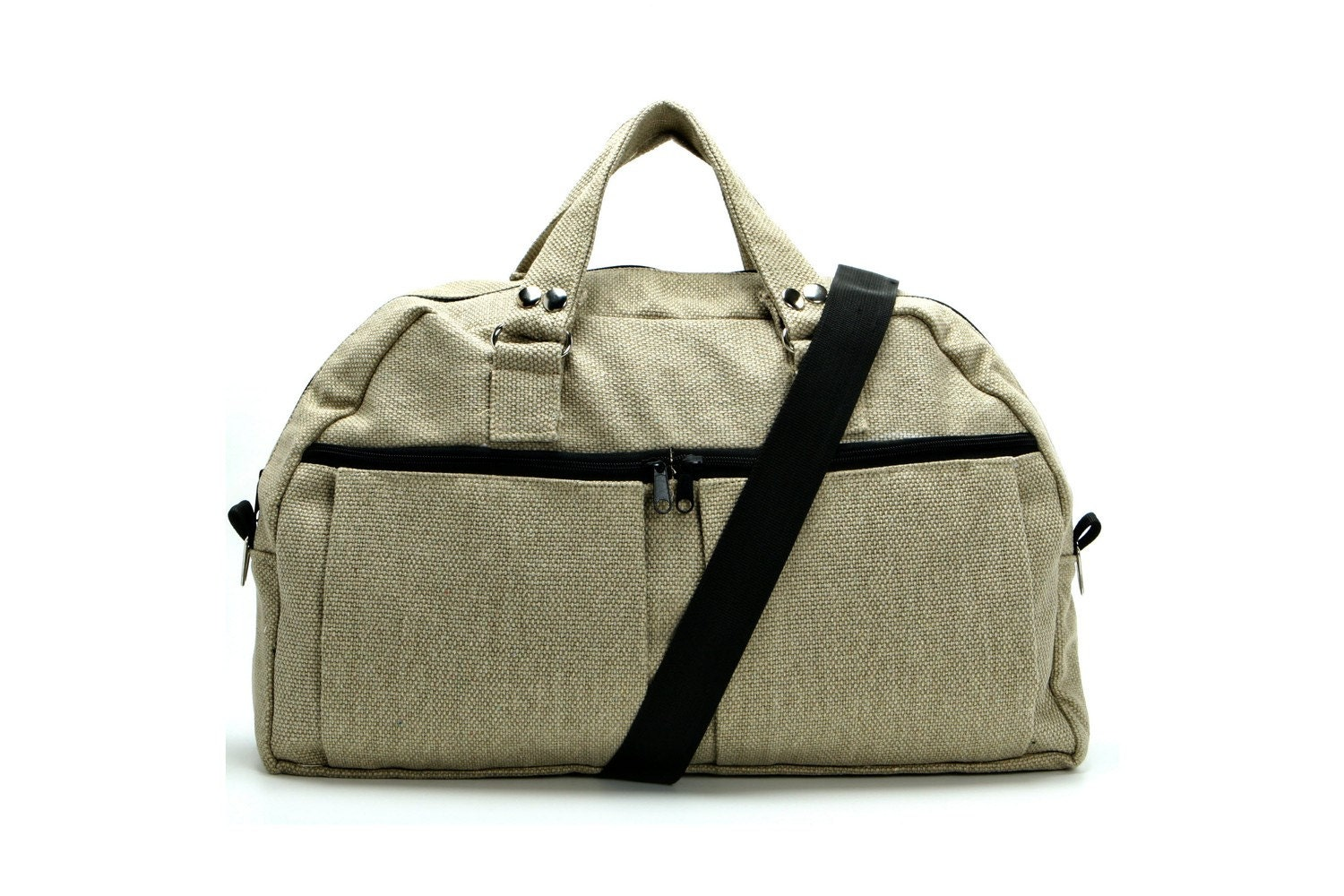 Cream Canvas Padded Laptop - Messenger -  Backpack - Overnight Bag - Neo