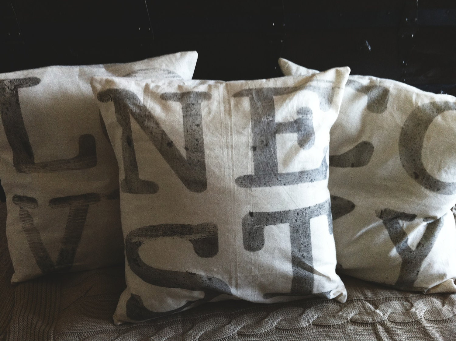 COZY 4 Letter Word 16 x 16 Pillow Cover, home decor, family gift, new family, house warming, love, cozy