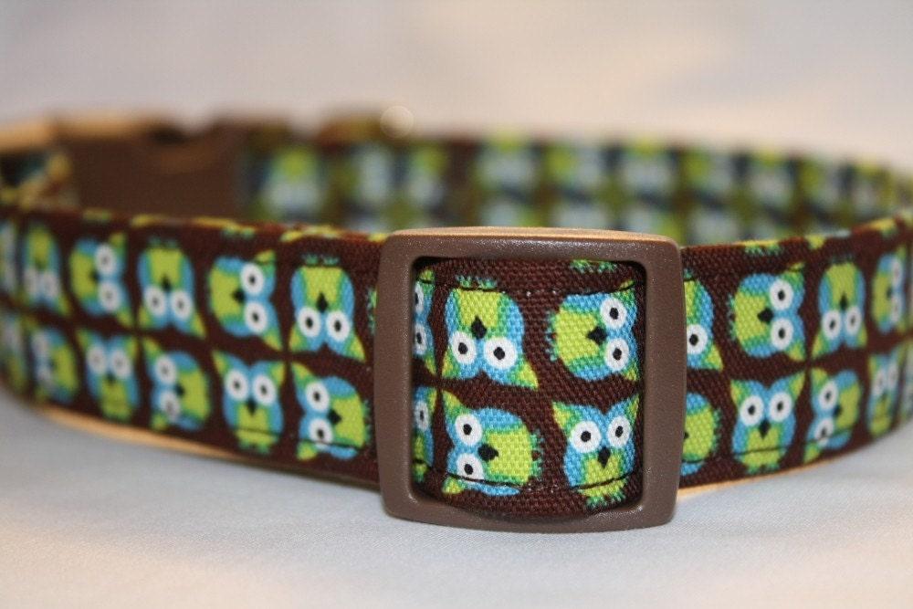 FREE US SHIPPING-Adjustable Custom Dog Collar- The Cute Hoot
