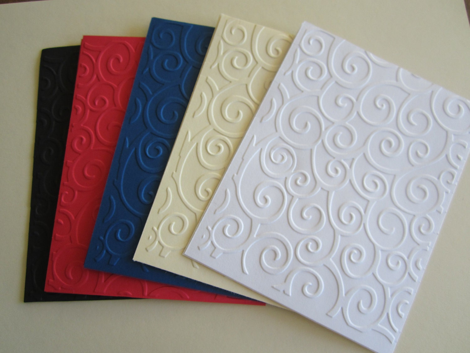 Elegant Swirl Embossed Card stock Paper by suppliesoplenty on Etsy
