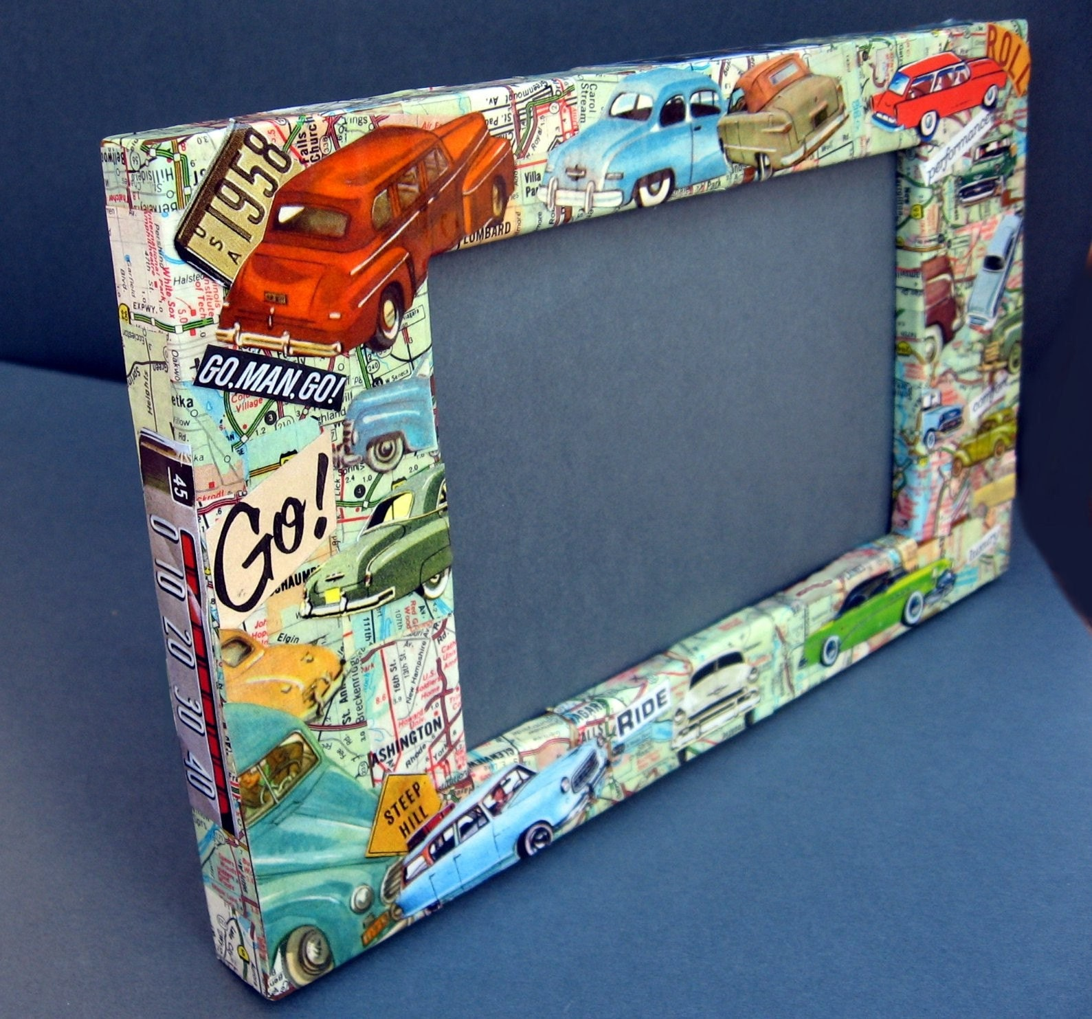 Classic Car collage Photo Frame