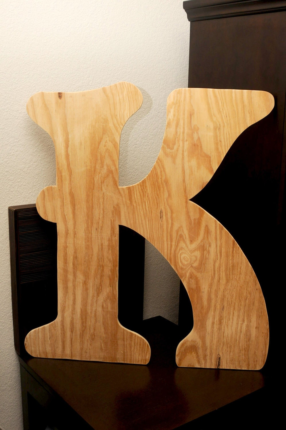 Large wooden letter k 36 inch unfinished by for 36 inch wooden letters