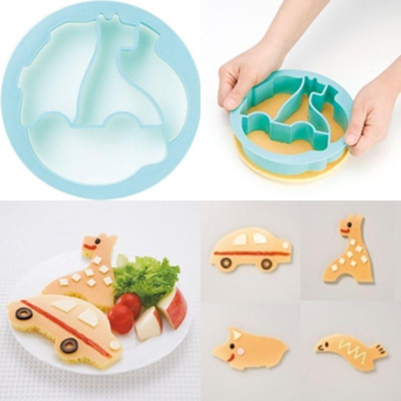 Pancake Cutter - Car Giraffe Seal And Pig