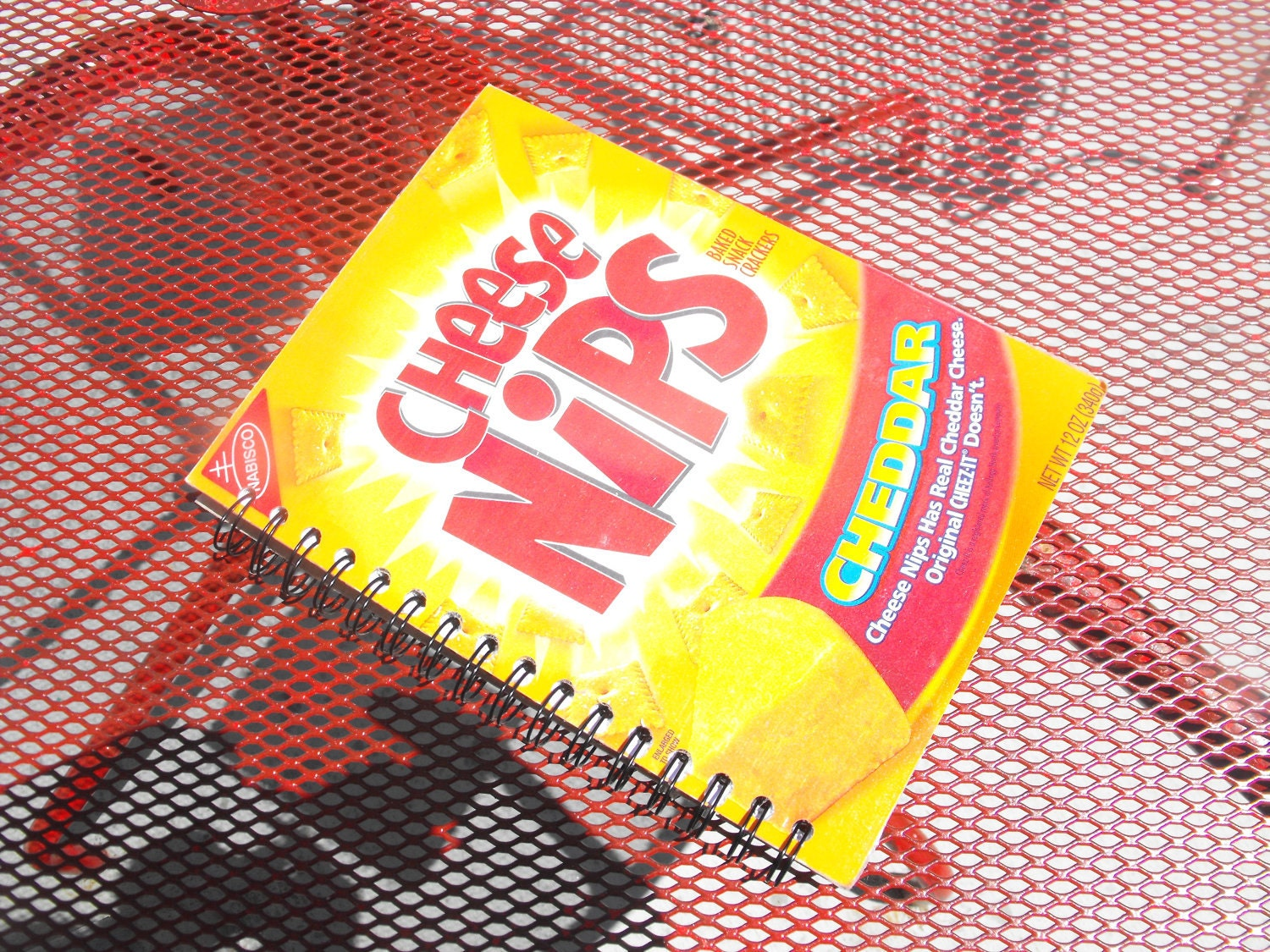Recycled Cheese Nips Journal
