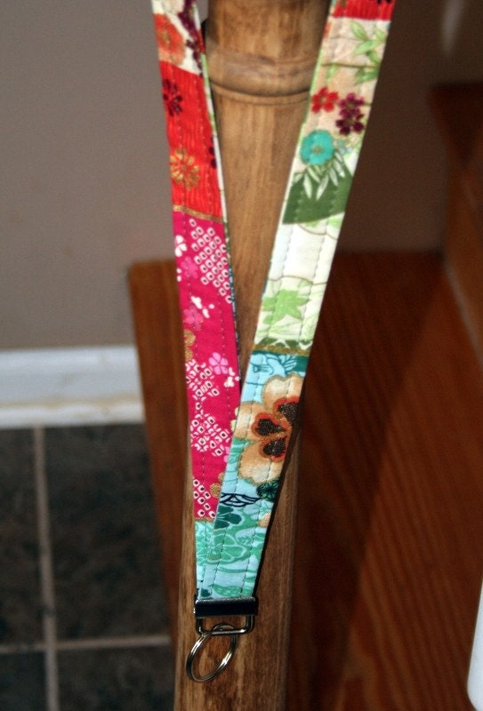 Lanyard with key ring Asian Squares 21""