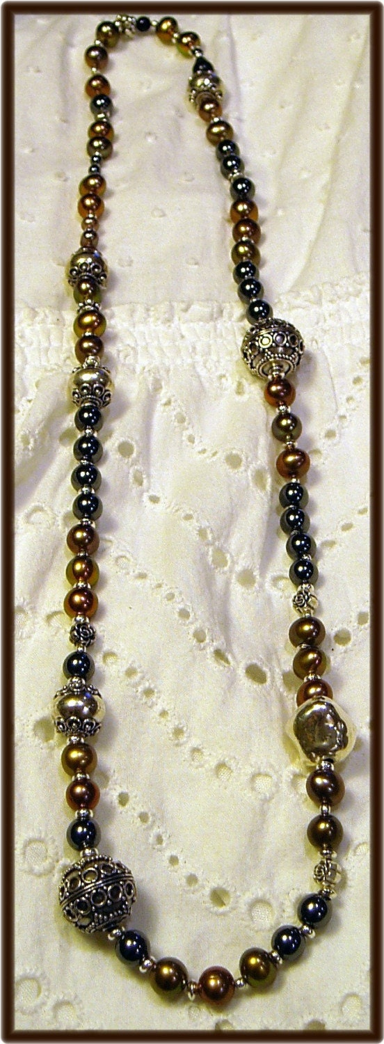 Wrapped in Pearls and Sterling by *BOXCJewelry on deviantART