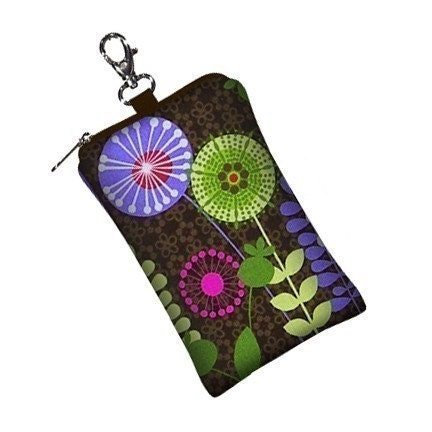 Gadget Keeper - padded case for  iPhone 3G,  iPod Touch,   Blackberry,  MP3 Player,   Camera, etc  - Pods N Posies