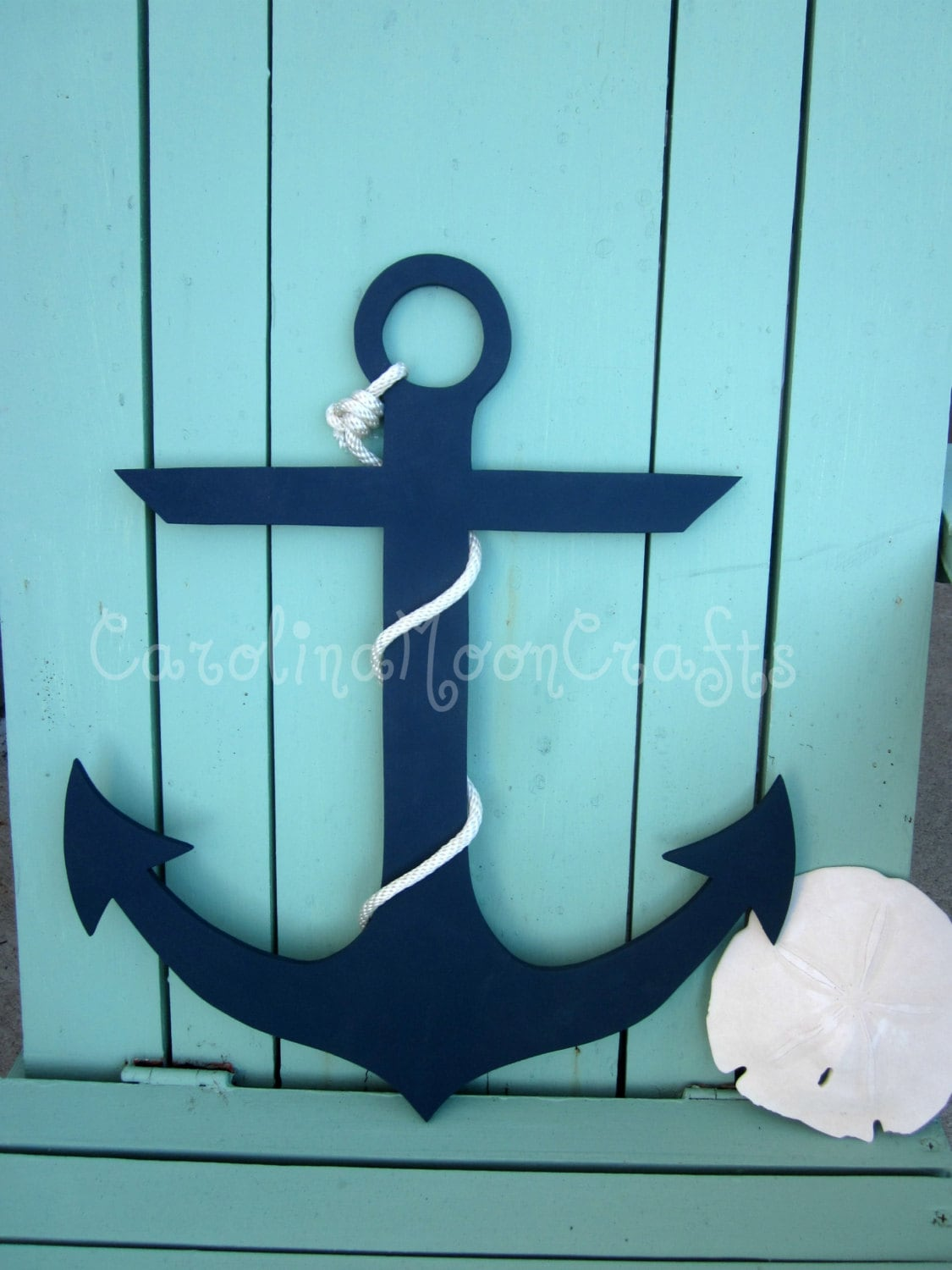 Items similar to wooden anchor beach wreath beach decor for Anchor decor
