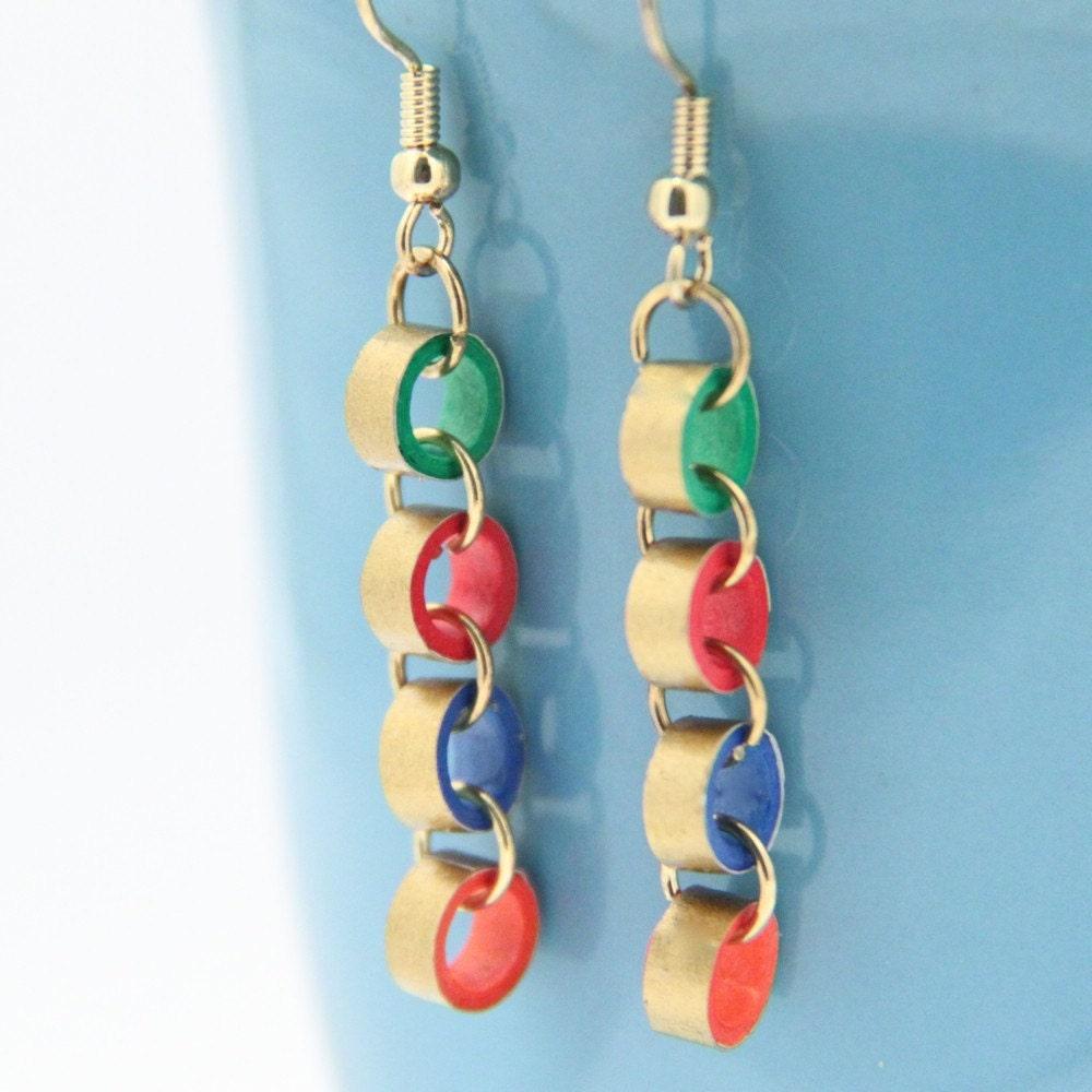 Nhật Bản viện trợ cứu trợ vàng làm nhỏ Bông tai Chuỗi Giấy Quilled - Một số màu sắc để lựa chọn