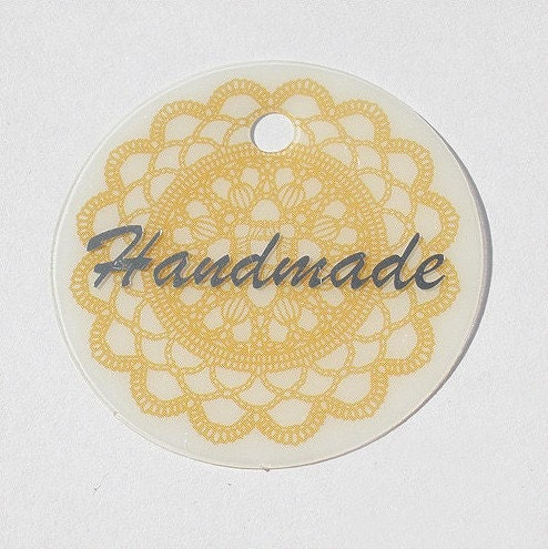 Doily tags - set of 10