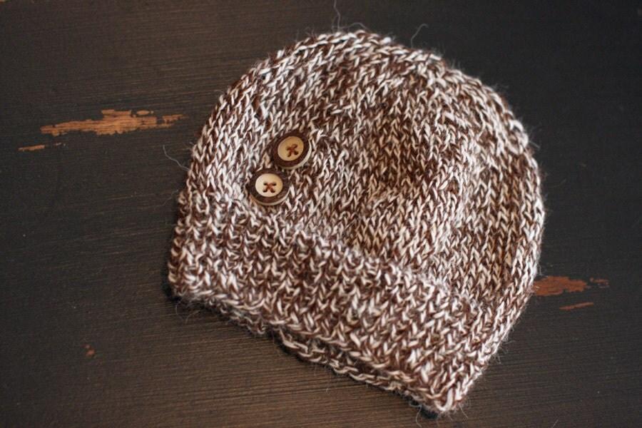 Soft Alpaca Baby Hat