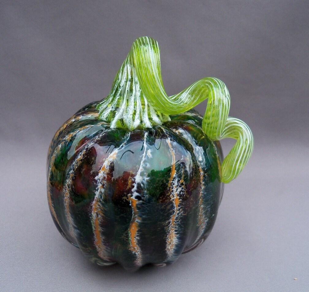 Hand Blown Art Glass Pumpkin