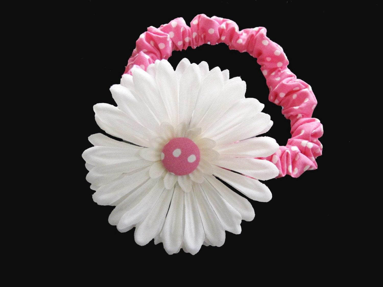 EASTER  SALE....Polka Dot Flower headband...