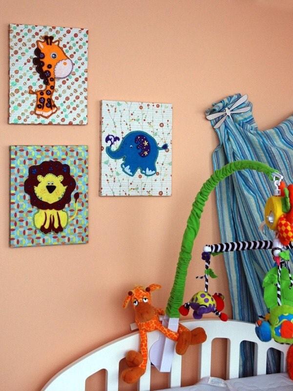 Kids Wall Art - Safari Applique Collection