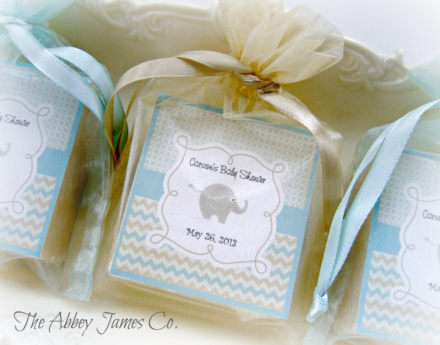 baby boy shower favors soap favors elephant baby by abbeyjames