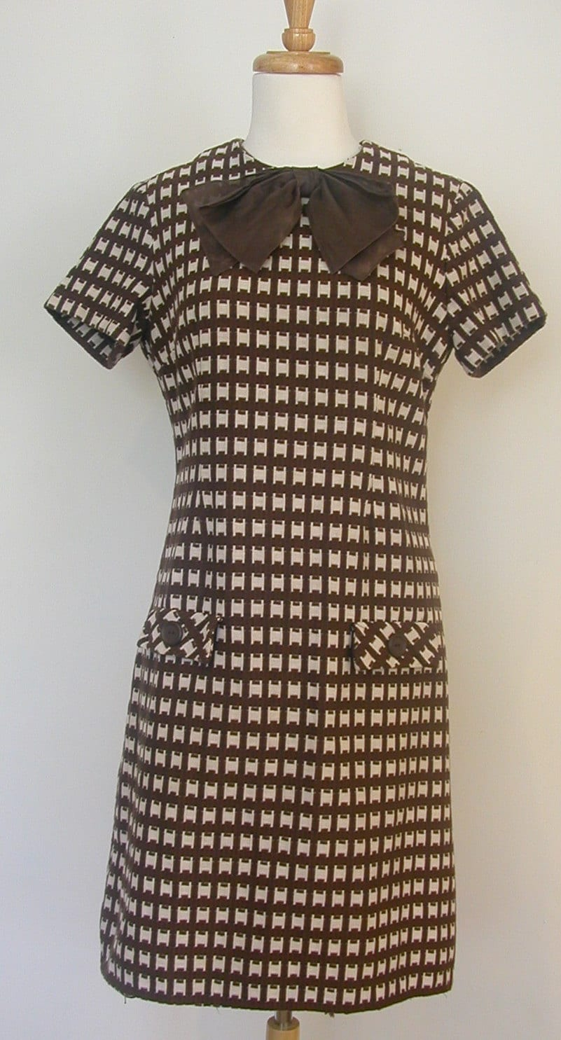 60s Mod Dress Vintage I Magnin Jackie O Sheath