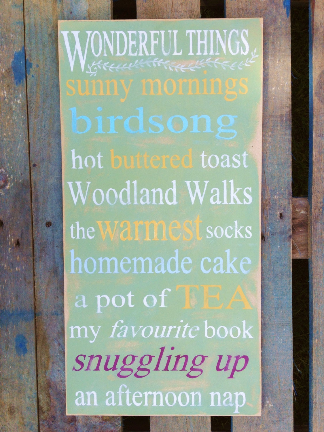 Items similar to The Beach - distressed sign wood - wall word art ...