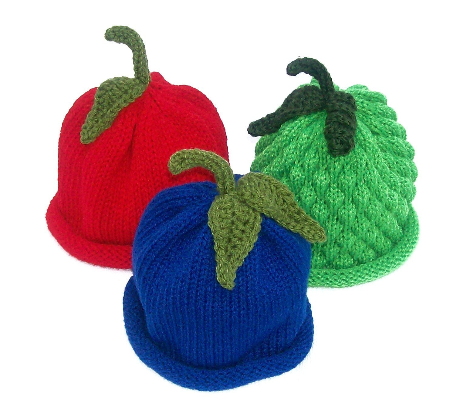 Fruit Hats for Girls and Boys Perfect for Custom Photograpy Portraits - 3PK Infant Sizes