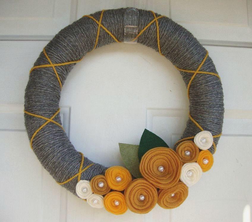 Handmade Felt & Yarn Wreaths