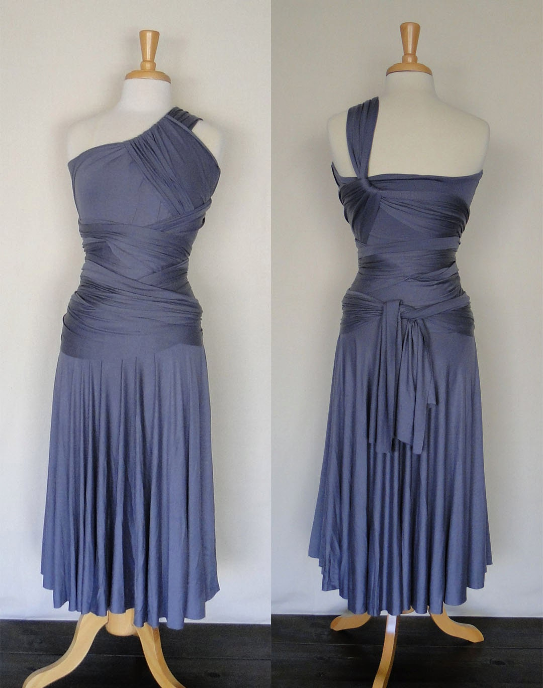 Infinity Dress Convertible Dress In Grey By Madestudio On Etsy