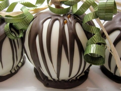 White Chocolate Covered Gourmet Apple