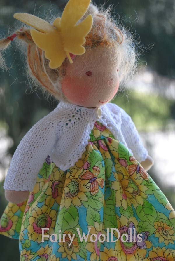Katja a FairyWoolDolls original Waldorf cloth doll
