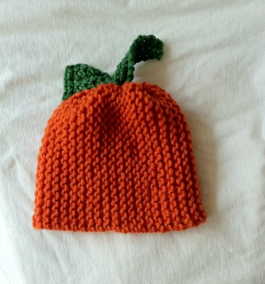 Knitted Peruvian Wool Pumpkin Hat - Infant