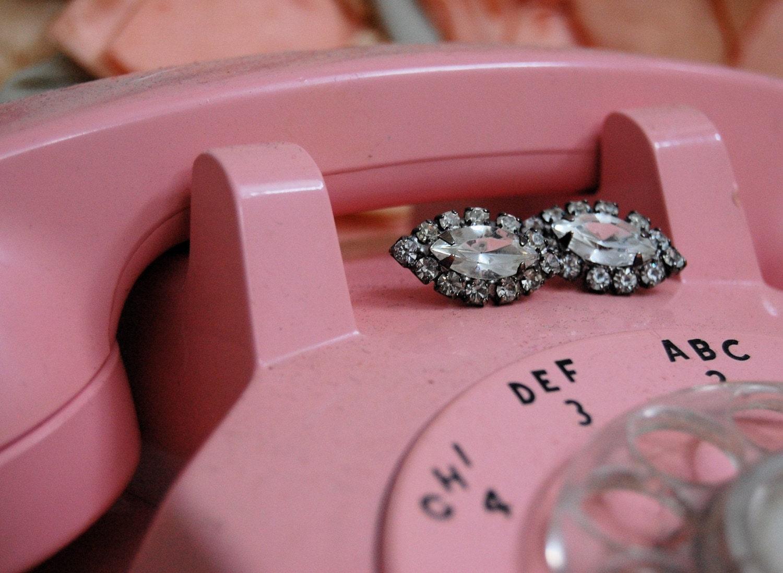 The Sophia- Vintage 1950s Rhinestone Earrings and Pin Set