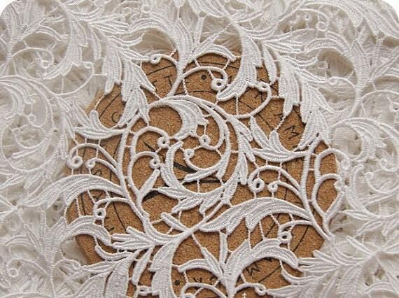 Chic white wedding lace fabric dress coat fabric by lacebeauty for White lace fabric for wedding dresses