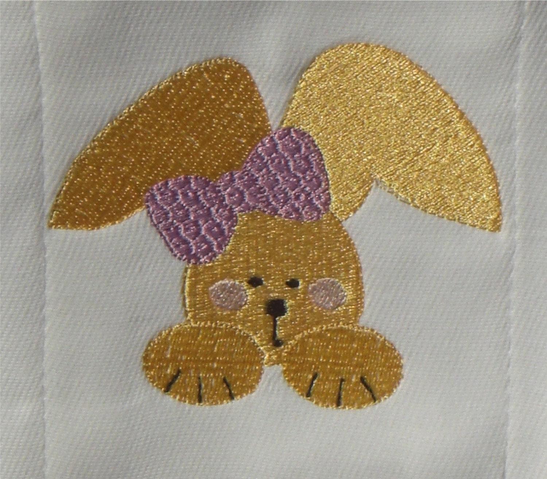 SAMPLE SALE - Embroidered Bunny Burp Cloth
