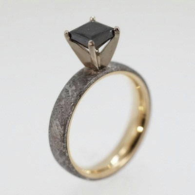 Engagement Rings Made From Meteorite