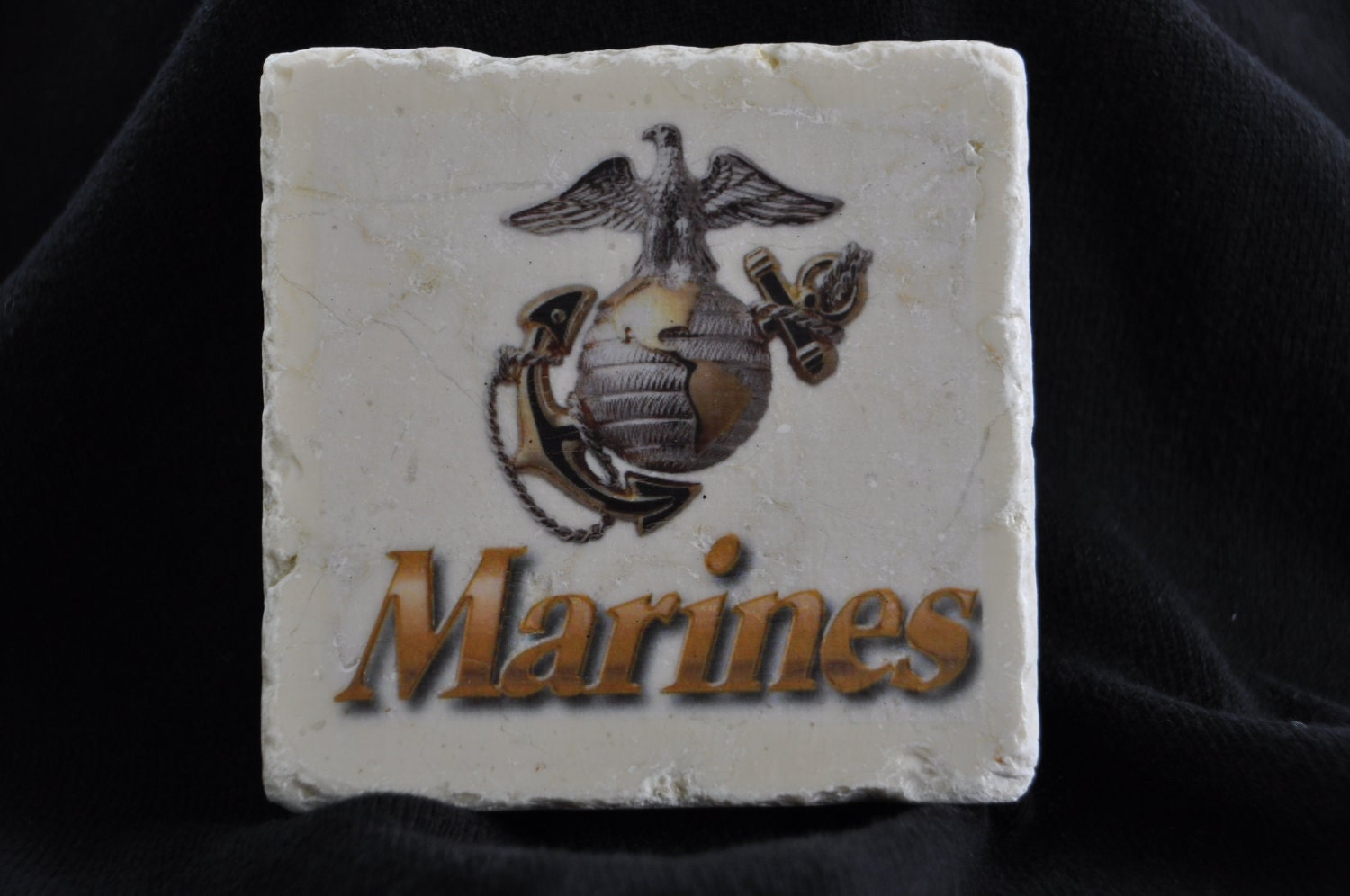 United States Marines Coasters Set of 4 Handcrafted